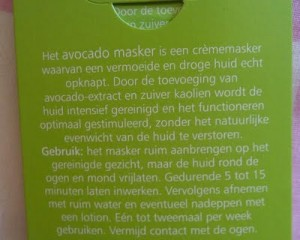 Dr. Van Der Hoog Avocado Masker