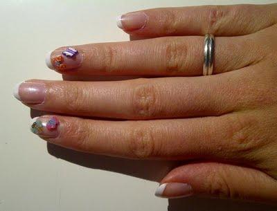 NOTD: French Manicure & Fimocanes