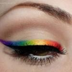 Recreated: Rainbow Winged Eyeliner