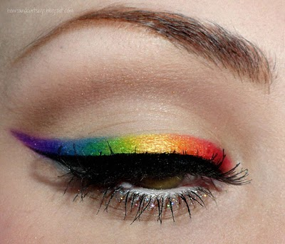 Recreated: Rainbow Winged Eyeliner
