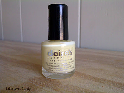 NOTD Claire's Pale Yellow