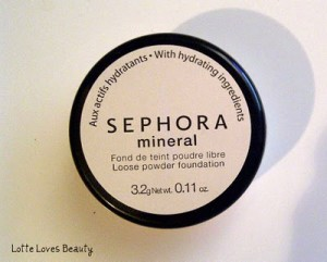 Sephora Mineral Loose Powder Foundation