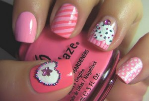 NOTD: Pink Nail-Art