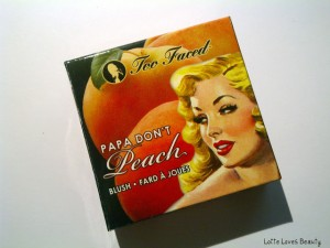 Too Faced Blush: Papa Don't Peach