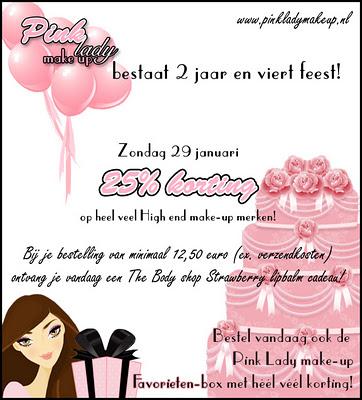 Leuke actie bij Pink Lady Make-up!
