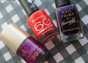 Swatches Accessorize, Barry M & Rimmel