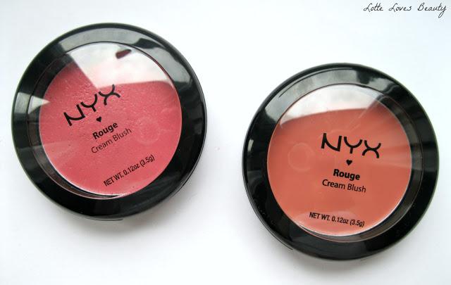 NYX Cream Blush in 05 Glow & 01 Rose Petal