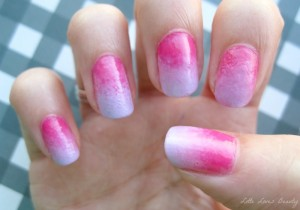NOTD: Pink & Purple Ombre Nails