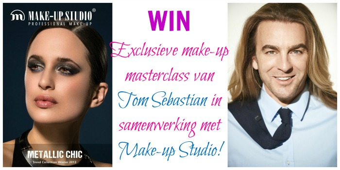WIN een exclusieve make-up masterclass van Tom Sebastian en Make-up Studio!