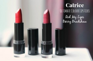 Catrice Ultimate Colour Lipstick 310 Red My Lips & 340 Berry Bradshaw