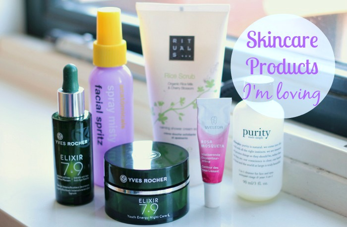 Skincare products I'm loving
