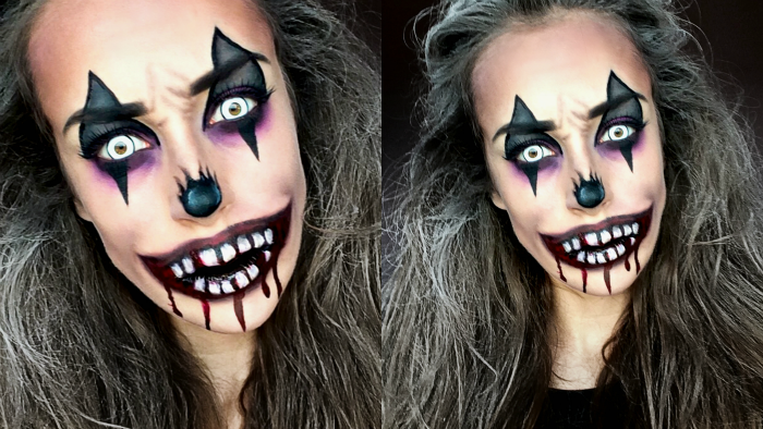 Filmpje Creepy Clown Make Up (Halloween Tutorial) - Lotte Loves Beauty