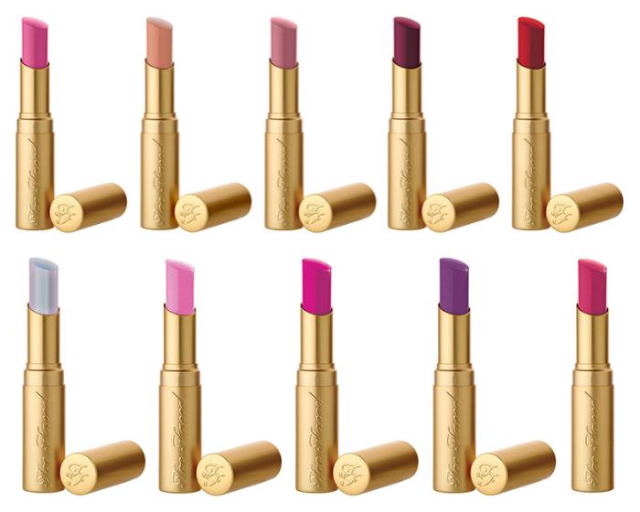 lottelovesbeauty too faced lipsticks