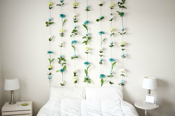 DIY-Flower-Wall-Headboard-7